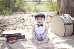 Baby boy photography session.  Ready to travel!