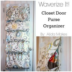 This closet door purse organizer from @Alida Young Lee is such a great idea to hang your handbags!  @Elena S