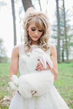 Magical Alice In Wonderland Styled Shoot   #pet #bunny #lace #romantic