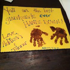 Grandparents day handprint card!!