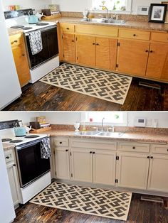 DIY Inexpensive Cabinet Updates- Add Trim, Paint cabinets and hardware
