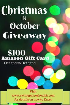 Christmas in October Giveaway!