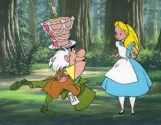 *MAD HATTER & ALICE ~ Alice in Wonderland, 1951