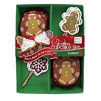 Gingerbread Man Cupcake Set | Cupcake LIners & Picks - Kitchen Krafts