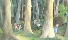 One of Oxenbury's illustrations forWe're Going on a Bear Hunt