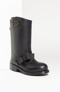RED Valentino Bow Trim Waterproof Rain Boot