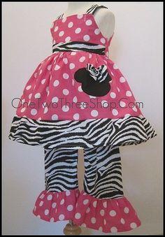 Custom Boutique Minnie Mouse Jumper Top Pants Set 12 by amacim, $45.00