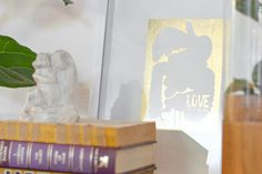 DIY Luxe Gold Leaf Wall Art