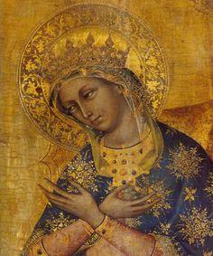 icon, lorenzo veneziano, italian renaissance, blessed mother, mother mary, venice italy, lions, virgin mary, virgin mari