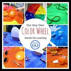 Teaching 2 and 3 Year Olds: Creating a Preschool Color Wheel - Hands-On Learning!