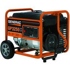 power generat, watt portabl, low oil, gp3250 watt, generac 5982