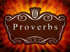 A Proverb A Day: 31 day study through the book of Proverbs