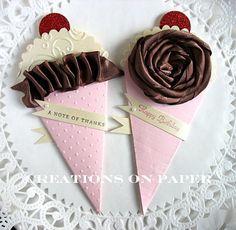 ice cream petal cone invite