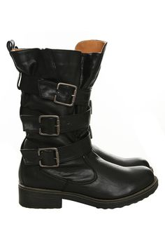 Great black boots.
