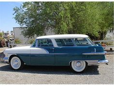 1956 Pontiac Safari station wagon. My family car growing up. Quite a sporty Wagon. I got my drivers license in this model. I would love to have it now.