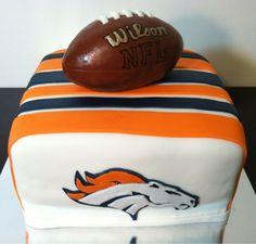 Kelley's Cake Creations - Denver Broncos cake denver bronco, bronco cake, birthday cake
