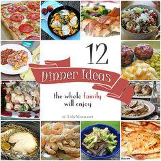 12 Family Friendly Dinner Ideas at TidyMom.net