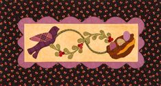 Use flannel scraps to create bird, nest, egg, and berry appliqué pieces. Fuse the pieces to a pieced pillowtop to make a handmade nature scene.