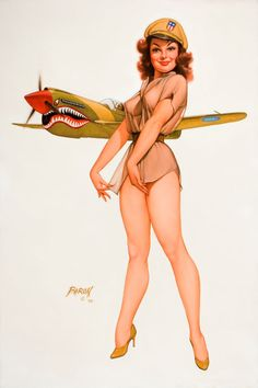Baron Von Lind - The P-51 Mustang & A Lovely Pin-Up Girl Makes For A Great Image!