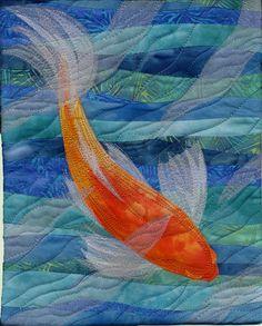 Koi, a journal quilt by Sarah Ann Smith