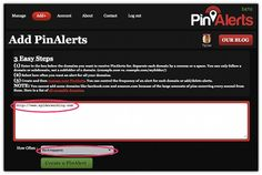 Find Out When Your Website Is Pinned With PinAlerts - Cool Tool