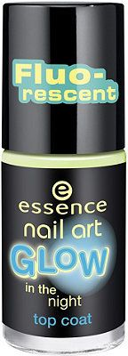 This glow-in-the-dark top coat would be cool for Halloween nails