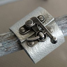 Hardware and leather into a cuff tutorial