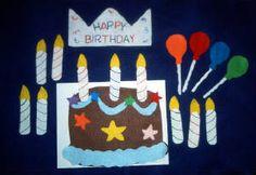 Happy Birthday Cake Felt Set