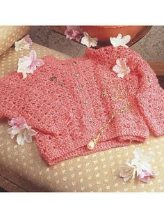 "Lacy Delight This beautiful garment looks great any time of the year! Designed by Christina McNeese Ladies size 30-32"" bust, changes for 36-38"" are in [ ]. Sport wt yarn, hooks I + J free pdf"