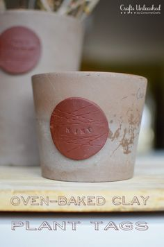 Baked Clay Plant Label Tags