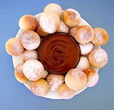 Copycat of Pizza Express dough balls with Nutella