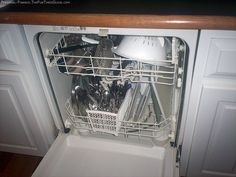 Place a coffee cup filled with vinegar in the dishwashing rack and run a full cycle of dishwashing. This will clean your entire dishwasher. This is one of the easiest techniques and works well as preventive care.