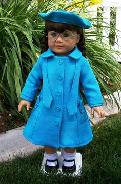 American Girl Classic Coat and Beret by RuthielovestoSew on Etsy, $42.00
