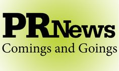 Comings and Goings: here's a look at new assignments for some notable names in public relations for the week of November 10, 2014.
