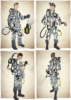 FAN ART: GHOSTBUSTERS TYPOGRAPHY ART   GhostbustersNews.com