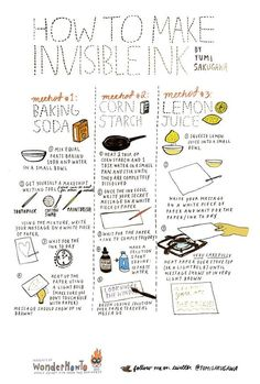How to Make Invisible Ink - from Yumi Sakugawa on Wonder How To?
