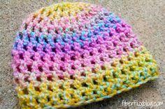 Free #crochet hat pattern for newborns by @fiberflux