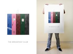 The Breakfast Club minimalist movie poster by Josh Copper for my Concepts class at Austin Creative Department.