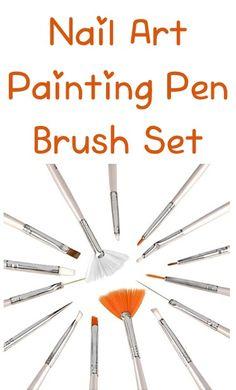 Nail Art Painting Pen Brush Set ~ $2.09 Shipped! {+ nail art dotting pens deal} #nails art paintings, brush set, dot pen, paint pen, nail arts, pen brush, nail brushes, art dot, 209