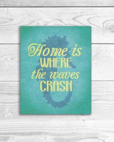 Nautical Art Print Beach Quote Poster Ocean by SmartyPantsStudio