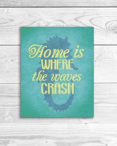 Nautical Art Print Beach Quote Poster Ocean by SmartyPantsStudio