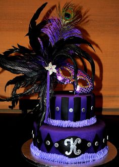 purple cake on pinterest | Pin Treats Purple Masquerade Cake on Pinterest