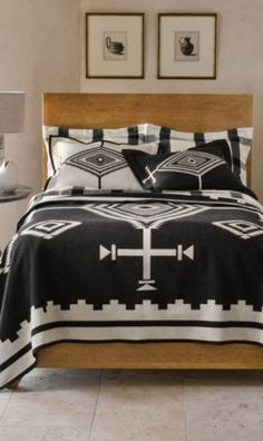 Black Los Ojos Blanket Collection $250
