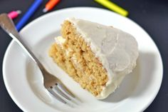 Caramel Cake with white chocolate frosting