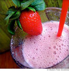 Strawberry Hemp Milk Smoothie