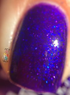 Girly Bits Seriously Sassy Royal purple jelly, with colour shifting microglitter!!