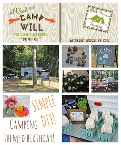 A Camping Themed Birthday Party!