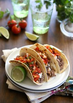 spicy lamb tacos with harissa pico de gallo from bustle.com