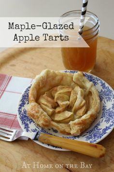 easy maple-glazed apple tarts