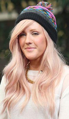 Ellie Goulding. Subtle pink